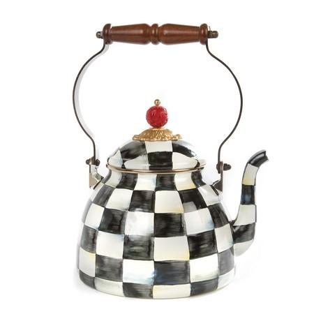 Buy the MacKenzie-Childs Courtly Check Enamel Tea Kettle online at smithsofloughton.com