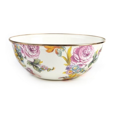 Buy the MacKenzie-Childs White Flower Market Bowl online at smithsofloughton.com