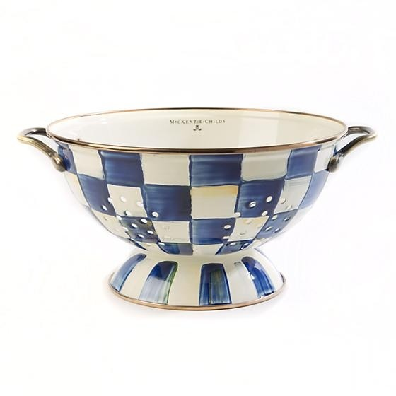 Buy the MacKenzie Childs Royal Check Colander Large online at smithsofloughton.com