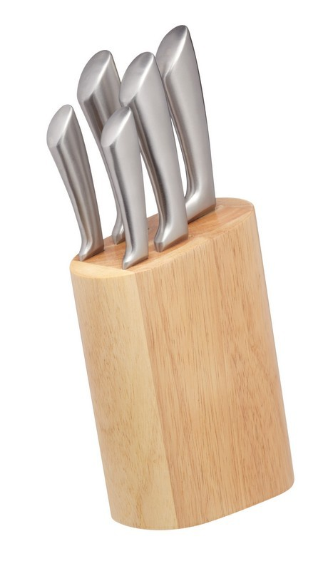 Buy the MasterClass Sabre 5 Piece Knife Set with Wooden Block online at smithsofloughton.com