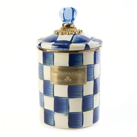 Buy the medium MacKenzie-Childs Royal Check Canisters online at smithsofloughton.com
