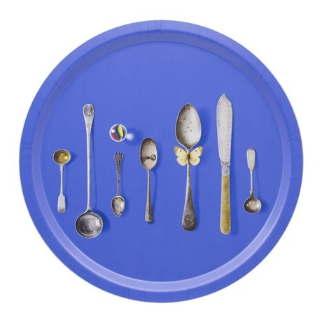 Buy the Michael Angove - Cutlery Blue - Circular Tray 39cm online at smithsofloughton.com