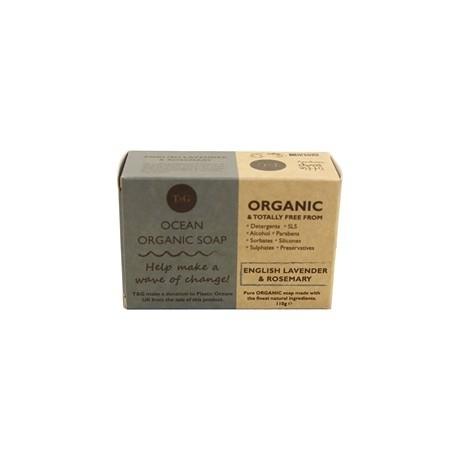 Buy the Ocean Organic Soap - Lavender & Rosemary (110g) online at smithsofloughton.com