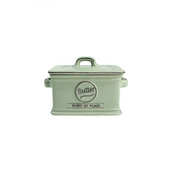 Buy the Pride Of Place Butter Dish Old Green online at smithsofloughon.com