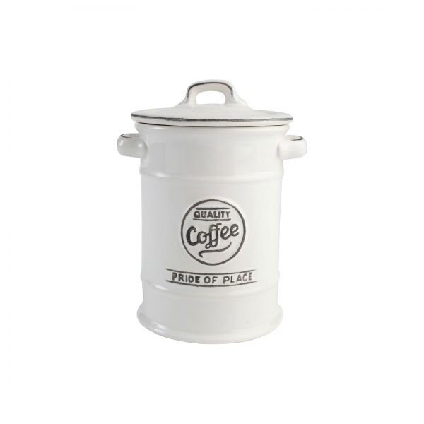 Buy the Pride Of Place Coffee Canister Old White online at smithsofloughton.com