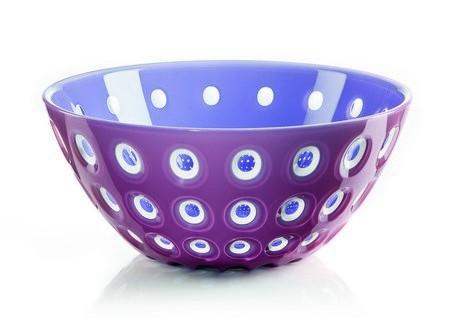 Buy the purple Guzzini Le Murrine Bowl 25cm online at smithsofloughton.com