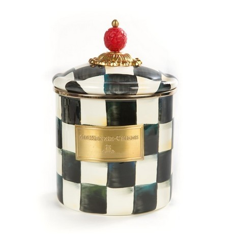 Buy the small MacKenzie-Childs Courtly Check Canister online at smithsofloughton.com