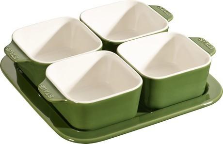 Buy the Staub Green Appetizer Set online at smithsofloughton.com