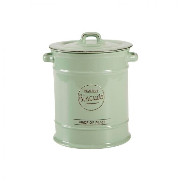 Buy the T&G Woodware - Pride Of Place Biscuit Barrel Old Green online at smithofloughton.com