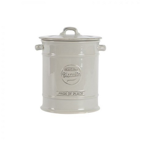 Buy the T&G Woodware - Pride Of Place Biscuit Barrel Old Grey online at smithofloughton.com