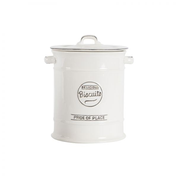 Buy the T&G Woodware - Pride Of Place Biscuit Barrel Old White online at smithofloughton.com