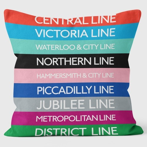 Buy the Tube Line Colour Key Cushions 40cm online at smithsofloughton.com
