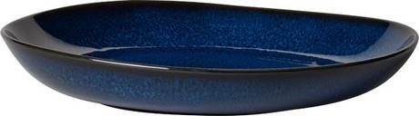 Buy the Villeroy and Boch Lave Bleu Large Flat Bowl 28cm online at smithsofloughton.com