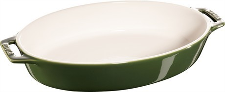 Buy this Staub Oval Baking Dish Basil Green 29cm online at smithsofloughton.com