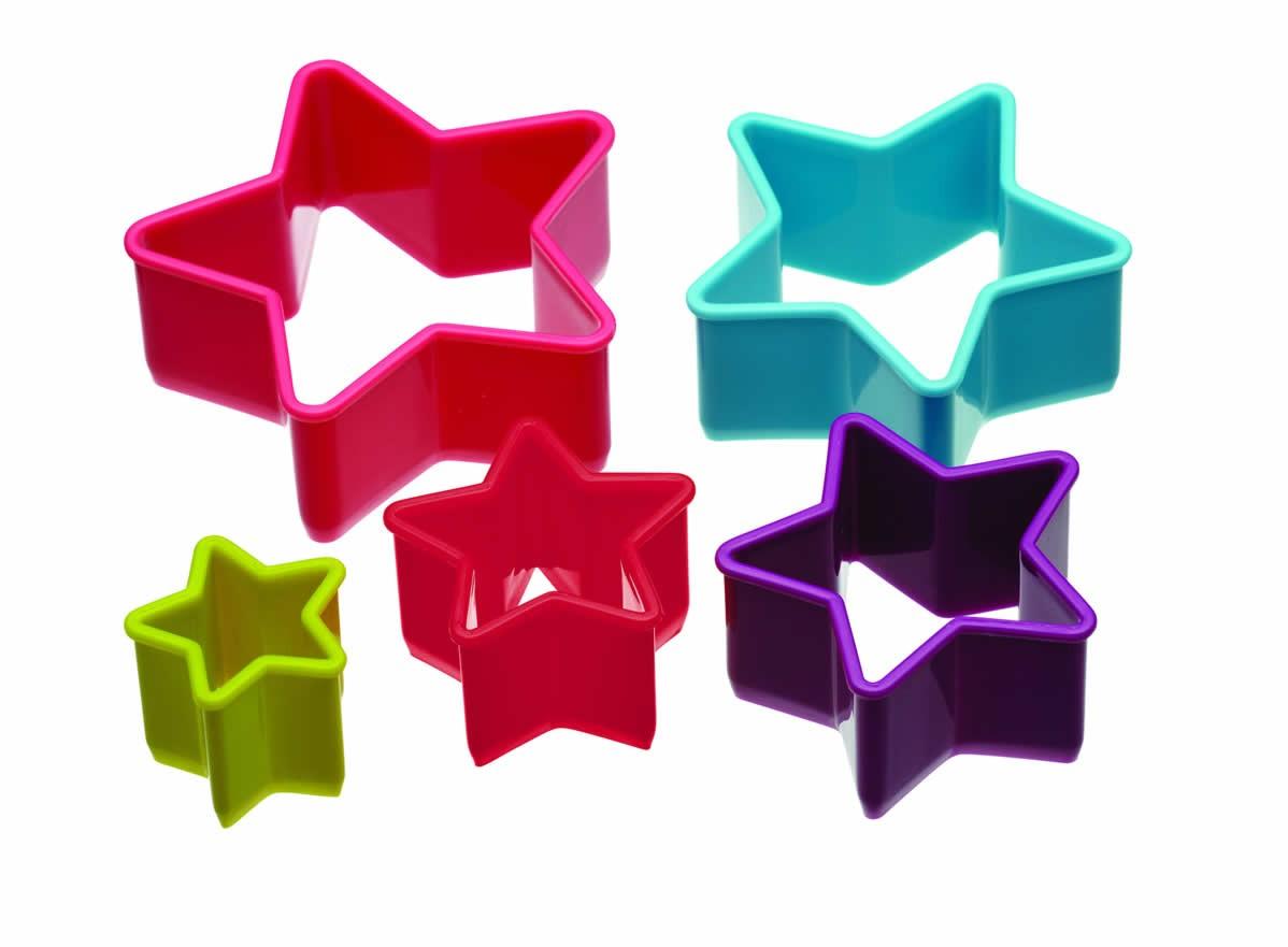 Kitchen Craft Colourworks Star Shaped Cookie Cutters
