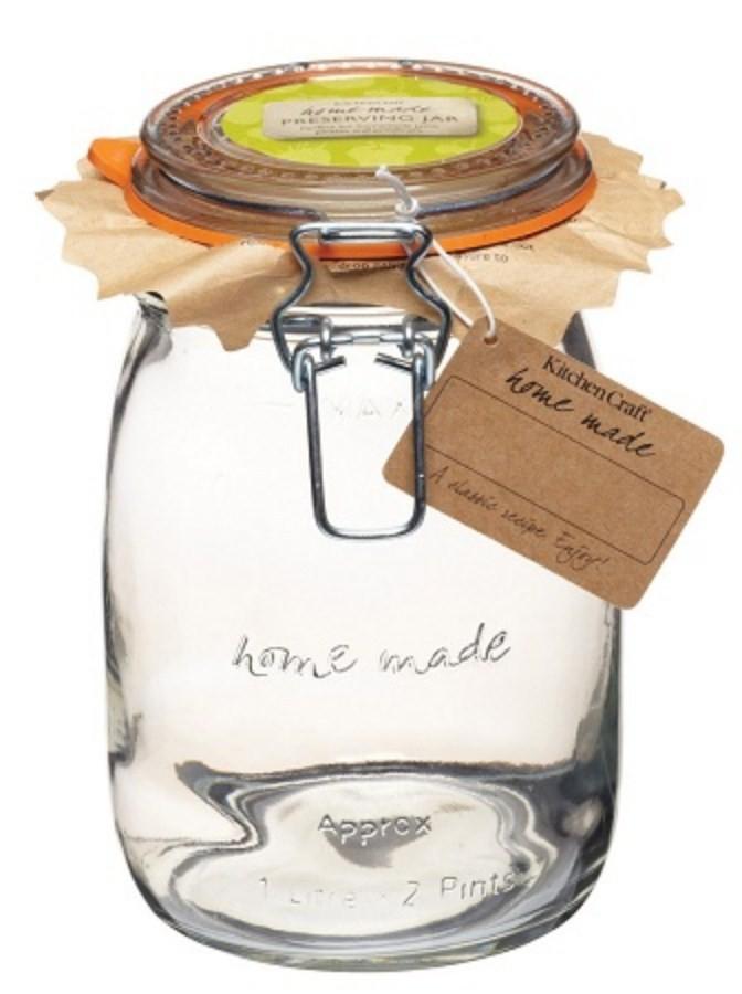 Kitchen Craft Glass Preserving Jar 1000ml