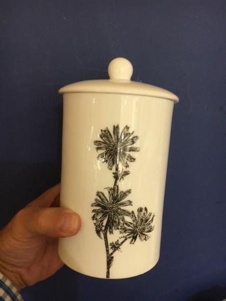 Buy the fine bone china Little Weaver Arts Wild Chicory Storage Canister online at smithsofloughton.com