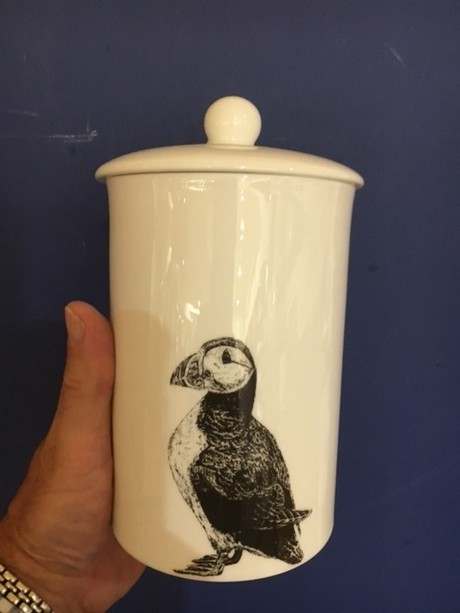 Buy the fine bone china Little Weaver Arts Puffin Storage Canister online at smithsofloughton.com