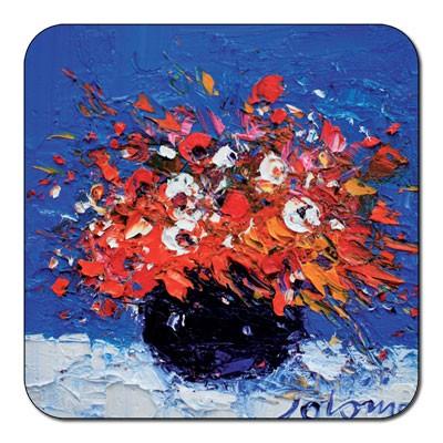 Castle Melamine Flowers Coaster