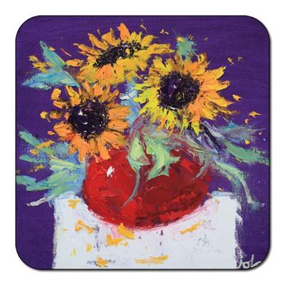 Castle Melamine Sunflower Coaster