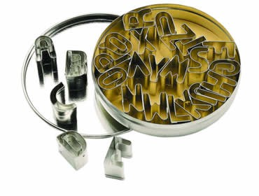 Buy the Let's Make 26 Alphabet Cookie Cutters With Metal Storage Tin online at smithsofloughton.com