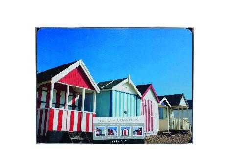 Kitchen Craft Beach Hut Cork Back Laminated Set of 4 Placemats