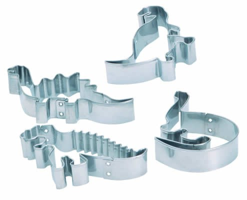 Purchase the Let's Make Set of 4 Dinosaur Cookie Cutters online at smithsofloughton.com