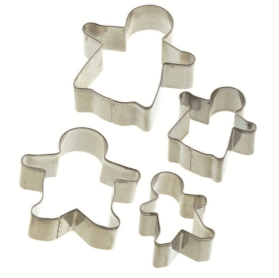 Buy the Let's Make Set of 4 Gingerbread Cookie Cutters  online at smithsofloughton.com