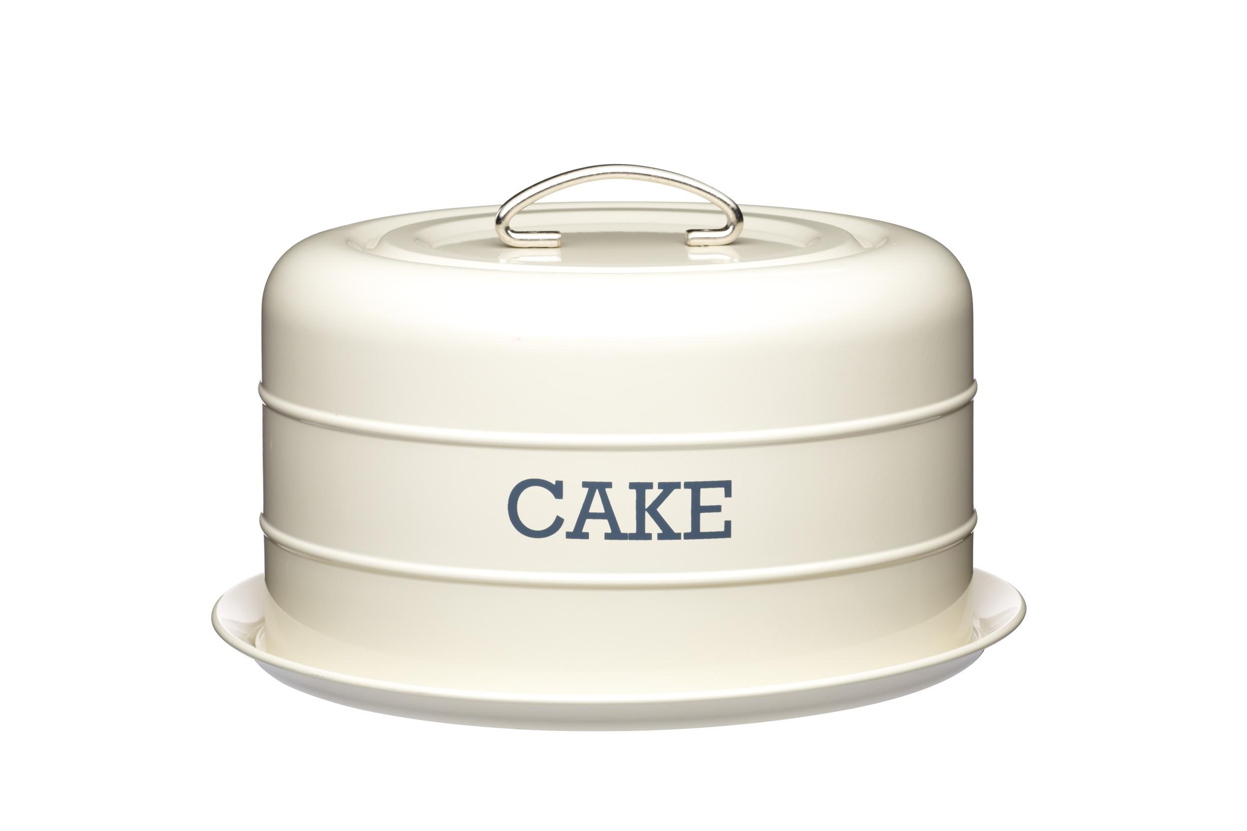 Kitchen Craft Living Nostalgia Airtight Domed Cake Tin Cream