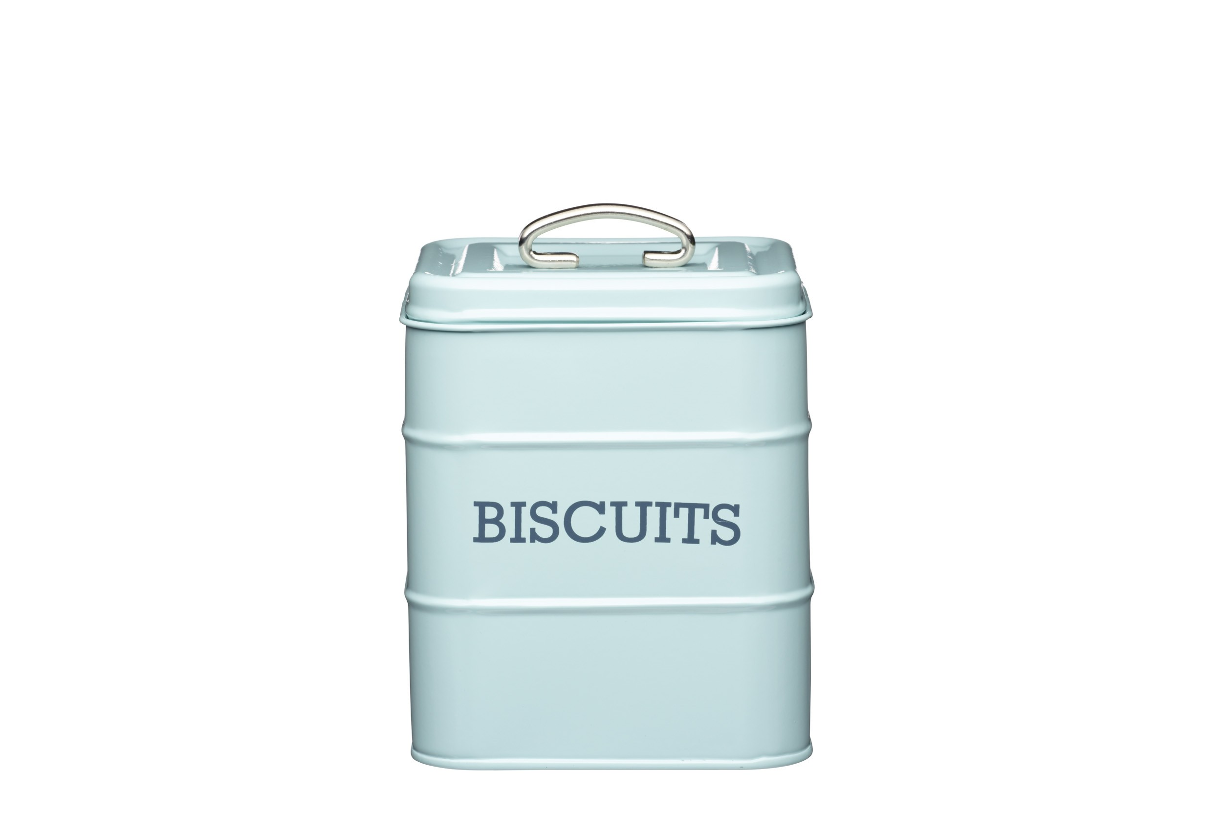 Kitchen Craft Living Nostalgia Biscuit Canister Blue 14.5cm X 19cm