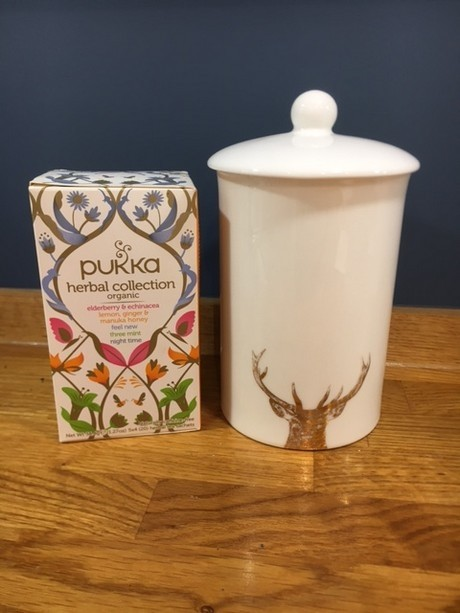 Buy the bone china Little Weavers Art Gold Majestic Stag Storage Canister online at smithsofloughton.com
