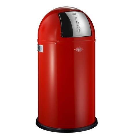 Wesco Pushboy 50L Red Bin