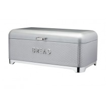 Buy the Lovello Bread Bin Textured Finish Grey online at smithsofloughton.com