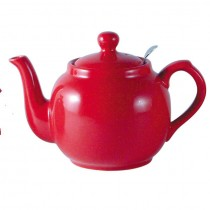 Buy London Potter Company Farmhouse Filter 6 Cup Red Teapot online at smithsofloughton.com