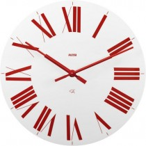 Buy the Alessi Firenze White Red Clock online at smithsofloughton.com