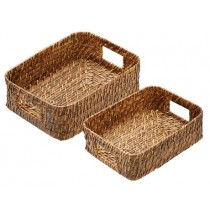 Buy the Artesà Set of 2 Natural Bamboo Rattan Serving Baskets from smithsofloughton.com online