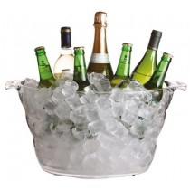 Buy the Bar Craft Mix It Acrylic Large Oval Drinks Pail Cooler online at smithsofloughton.com