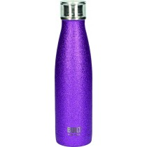 Buy the Built 500ml Double Walled Stainless Steel Water Bottle Purple Glitter online at smithsofloughton.com