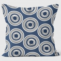 Buy the Circles Blue Abstract Cushions 40cm online at smithsofloughton.com