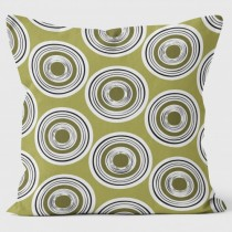 Buy the Circles Green Abstract Cushions 40cm online at smithsofloughton.com