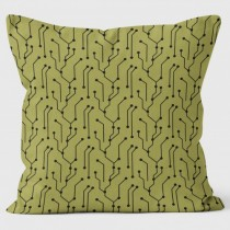 Buy the Circuit Board Green Cushions 40cm online at smithsofloughton.com