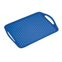 Buy the Colourworks Blue Anti-Slip Serving Tray online at smithsofloughton.com