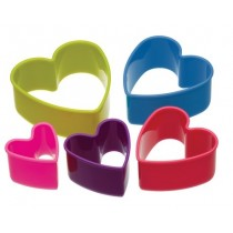 Buy the Colourworks Set of 5 Heart Shaped Cookie Cutters online at smithsofloughton.com