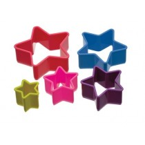 Buy the Colourworks Set of 5 Star Shaped Cookie Cutters online at smithsofloughton.com