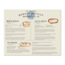 Buy the Creative Tops Bread Recipes Large Glass Work Surface Protector online at smithsofloughton.com
