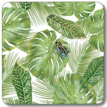 Buy the Customworks Frog with Leaf Background Drinks Coaster online at smithsofloughton.com