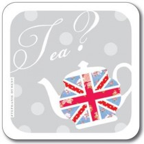 Buy the Customworks Union Jack Anyone for Tea Drinks Coaster online at smithsofloughton.com