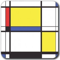 Buy the Customwors Yellow Block Drinks Coaster online at smithsofloughton.com