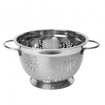 Buy the Dexam Footed Colander Stainless Steel 26cm online at smithsofloughton.com