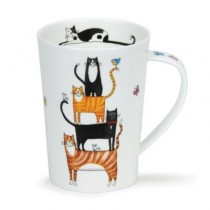 Buy the Dunoon Argyll Mug High Rise Cats online at smithsofloughton.com